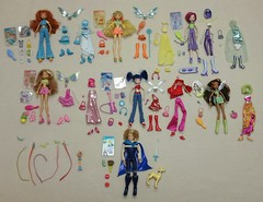 Winx Club Doll Collection - SOLD (everenthia) Tags: winx club bloom sky brandon stella tecna flora musa layla doll lot collection sale