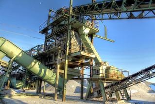 Kiesgrubenbeförderungsband - Gravel pit conveyor belt