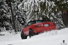 Miata drift. (Paynes.Photography) Tags: miata snow snowymountain drift snowdrifting miatagang mazdamiata