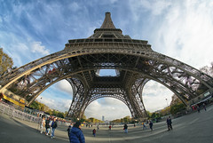 La Tour Eiffel (Gary Burke.) Tags: eiffeltower landmark latoureiffel architecture tower touristattraction travel wanderlust tourism paris france vacation citylife cityliving urban city traveling europe european klingon65 garyburke urbanphotography travelphotography citystyle french sony a6300 mirrorless sonya6300 sky clouds outdoor gustaveeiffel champdemars cityoflights iron metal abstract icon culturalicon people park uwa fisheye wideangle parisian iledefrance îledelacité 7tharrondissement view landscape cityscape tourists observationdeck