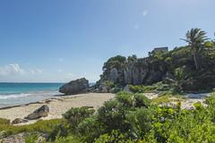 Beach Entry to Tulum (aaronrhawkins) Tags: tulum caribbean city ruin building site archeology maya rivieramaya mayanriviera mexico yucatan peninsula native ancient beach trade temple indian prehistoric aaronhawkins