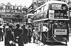 London transport RTL1459 Zurich June 1953. (Ledlon89) Tags: rtbus aecregent aec rt london transport lt lte lptb londonbus londonbuses bus buses londontransport vintagebus vintagebuses 1950s 1959 1953 alltypesoftransport
