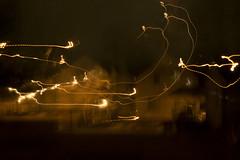 2 Houses (davidhangell) Tags: slowshutter nikon blur red art tv lightwriting glow kitlens motion experimental