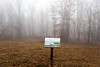 20171223 (Homemade) Tags: leonlevypreserve nikon2470mmf28 nikkor2470mmf28 westchestercounty westchesterlandtrust sign meadow winter fog trees woods preserve trail hike forest tree lewisboro ny newyork southsalem