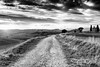 sentiero (*magma*) Tags: valdorcia toscana tuscany italy country hills colline valley trees cipressi cypresses grass erba campi fields sunset tramonto vitaleta cappella chiesa church