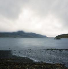 fjord pinhole (lawatt) Tags: fjord water clouds beach djúpavík árneshreppur westfjords iceland film 120 portra 400 hasselblad pinhole rollfilmweek