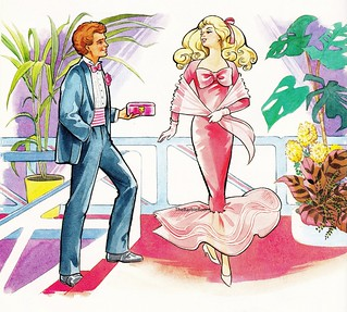 1989 Barbie Annual Book Illustration