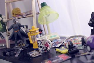 Geek girl desk