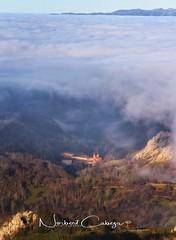 Basilica de Covadonga bajo un mar de niebla.. (Norbert Cabeza Llanes) Tags: asturias paraisonatural mar amanecer aire airelibre nature nubes viajar vivir vuelvealparaíso paisaje turismo basilica covadonga onis landscape montaña sueve