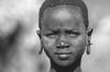 Ethiopia : Kibish, Surma girl (B&W)  #4 (foto_morgana) Tags: africa afrika afrique analogphotography analogefotografie anthropology ethiopia ethnic ethnie etnia etniciteit fujiprovia100f kibish lightroom native nikoncoolscan omovallei omovalley photographieanalogue suri surma travelexperience tribal tribe vallebajodelomo valléedelomo vuescan