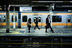 Ochanomizu Station in Tokyo (Pop_narute) Tags: ochanomizu train station platform tokyo japan japanese people railway transportation