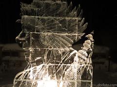 Native chief sculpture (David R. Crowe) Tags: amerindian friends ice internations people sculpture types calgary alberta canada