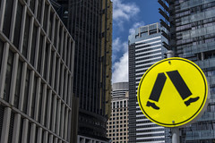 walk (Greg Rohan) Tags: pedestriansign streetsign clouds sky citystreets city urban architecture building buildings yellow walksign streets barangaroo sydney walk d750 2018 nikkor nikon skyscrapers sign skyscraper circle