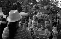 Dio de los Muertos (bingley0522) Tags: leicam2 zeissplanar50mmf20 aristapremium400 diafine epsonv500scanner sacramento diodelosmuertos dayofthedead autaut hat