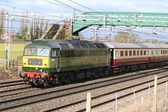 D1944 @ Chorlton Lane Nr Crewe (uksean13) Tags: d1944 craftsman chorltonlane crewe cheshire canon 760d ef70200mmf4lusm train railway green