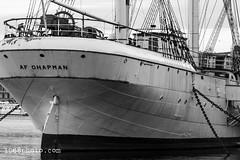 Af Chapman Stockholm (1968photo) Tags: stockholm sweden scenery scenic ship vessel hostel boat skepp båt fartyg vandrarhem sverige afchapman water blackandwhite bw sv svartvit