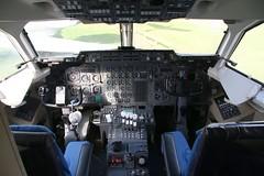 G-JEAO DH/BAe 146-100 Cockpit (kitmasterbloke) Tags: dehaviland museum londoncolney hertfordshire uk aviation wreck relic wr civil airliner jet