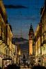 Torino by night : Via Roma [zoom da Piazza Castello] (Marco Ottaviani on/off) Tags: italia torino cartolina panorama viaroma piazzacastello lucidartista marcoottaviani
