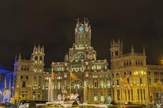 Adiós a las luces navideñas desde la Plaza de la Cibeles. Madrid. (ninestad) Tags:
