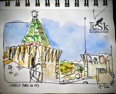 Castelo de Porto de Mós (JMADesigner) Tags: sketchs urbansketchers urbansketch urbansketchs uskp drawing montemorsketchers leiria