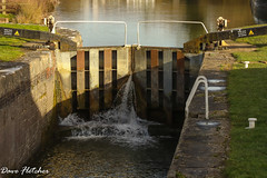 A leaking Lock gate on the Kennet and Avon canal (Meon Valley Photos.) Tags: a leaking lock gate kennet avon canal water