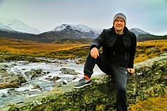 The joy of hiking (Fr Paul Hackett) Tags: mountain bridge river snow ice winter