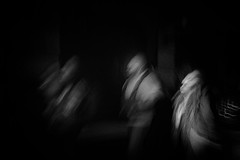 from the other side (ChrisRSouthland) Tags: blackwhite monochrome leicammonochrom elmarit28mmf28 street athens people streetphotography icm blur intentionalcameramovement
