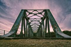 Puente de la Tavirona (Alicia Clerencia) Tags: iron hierro puente bridge metal nubes clouds lowangle ángulobajo camino way