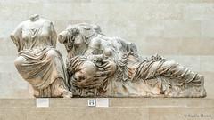 DSC7582 Hestia, Dione y Afrodita, Frontón Oriental del Partenón, 437-432 a.C., Atenas, British Museum, London (Ramón Muñoz - Fotografía) Tags: british museum museo británico londres london escultura esculturas partenón mármoles elgin frontón oriental del grecia