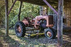 Stowed for The Season (jackalope22) Tags: tractor van buren allis cahmbers shed tones textures