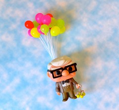 Up! (linda_lou2) Tags: 365the2018edition 3652018 day25365 25jan18 odc up 25365 365toyproject clouds sky balloons carl toy figure