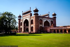 Agra - Taj Mahal - Darwaza-i-Rauza (The Great Gate) (Robert GLOD (Bob)) Tags: tajmahal architecture art building cenotaph construction door gate grass handicraft mausoleum plant plants taj tomb unesco uttarpradesh in ind india