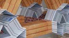 Modular origami truss bridge, close-up (ISO_rigami) Tags: modular origami 3d a4 truss bridge architecture paper construction framework spaceframe zebra eckhardhennig