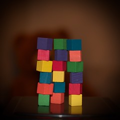3 towers (ladybugdiscovery) Tags: rainbow blocks towers stacked heaped three tiny square