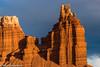 The Sentinel (Ralph Earlandson) Tags: chimneyrock sunset utah capitolreef capitolreefnationalpark desert coloradoplateau