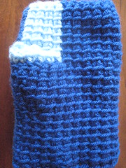 fingerless glove to be frogged (schoen1605) Tags: 2018 tunisian crochet fingerless glove