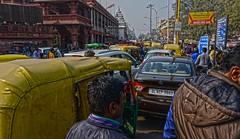 Old Delhi Traffic DSC_6772 (JKIESECKER) Tags: traffic olddelhi india cars citylife cityscenes citystreets people crowds urbanlife urban historicalbuilding