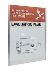Regulatory Signs (2/90 Sign Systems) Tags: 290 sign signs signage systems wayfinding facility modular 290signsolutions regulatory fire evacuation map safety restroom stairs natlprep