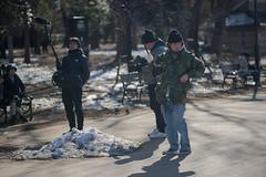 TV shooting crew (kasa51) Tags: people street tv shooting staff crew tokyo japan snow