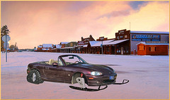 Mazda_Concept (Guyser1) Tags: vehicle car roadster mazda mx5specialedition snomazdomobile westyellowstone winter snowmobile hdr multicameras
