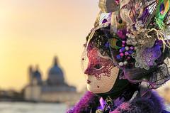 La dama del Vespro (Gio_guarda_le_stelle) Tags: carnival venezia venice mask fun sunset italy amicizia carnevale tramonto sangiogio