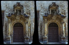 Portal of Quedlinburg town hall 3-D / CrossView / Stereoscopy / HDR / Raw (Stereotron) Tags: sachsenanhalt saxonyanhalt ostfalen harz mountains gebirge ostfalia hardt hart hercynia harzgau quedlinburg rathaus townhall portal doorway columns relief stuck architecture gothic gotik historismus historism crosseye crosseyed crossview xview cross eye pair freeview sidebyside sbs kreuzblick 3d 3dphoto 3dstereo 3rddimension spatial stereo stereo3d stereophoto stereophotography stereoscopic stereoscopy stereotron threedimensional stereoview stereophotomaker stereophotograph 3dpicture 3dglasses 3dimage hyperstereo canon eos 550d chacha singlelens kitlens 1855mm tonemapping hdr hdri raw