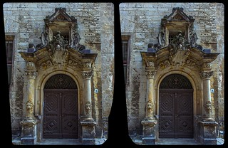 Portal of Querlinburg town hall 3-D / CrossView / Stereoscopy / HDR / Raw