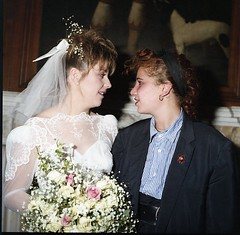 Bride and close friend (vintage ladies) Tags: easthaddon28101986 easthaddon wedding 80s 80swedding 80sstyle bride weddingdress female woman lady lovely beauty eoshe ladies women 80swoman 80sladies 80slady portrait people vintage