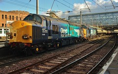 "DRS Class 37s Nos 37069 & 37259 at Carlisle - 'The Pennine Pathfinder"" (1Z97) - 17th Feb 2018 (allan5819 (Allan McKever)) Tags: drs class37 diesel loco locomotive tractor engine type1 englishelectric 37069 37259 thepenninepathfinder 1z97 railtour excursion charter passenger carlisle cumbria uk england northwest citadel station travel transport rail railway"