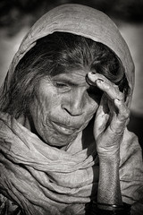 "Old woman (Ditisit) Tags: rajastan india old bw blackwhite black white thardessert dry sand dessert dirty woman female ""nikonflickraward"""