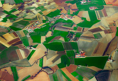 Piedmont patchwork (snowyturner) Tags: piedmont italy turin aerial patterns fields agriculture buildings
