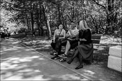 DR150511_503D (dmitryzhkov) Tags: russia moscow documentary street life human monochrome reportage social public urban city photojournalism streetphotography people bw dmitryryzhkov blackandwhite everyday candid stranger conversation speak group bunch