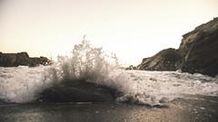 surf on rock (Chris Across America) Tags: wave crashing rock water leo carrillo state park summer day daytime california malibu beach sand ocean pacific coast highway rocks coastal sony alpha 99 alpha99 a99 tamron lens