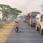 India (Bengalore) Colourful trucks and buses thumbnail